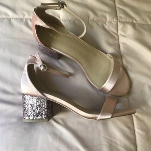 Aldo Shoes - Blush Sequin Ankle Strap Heels